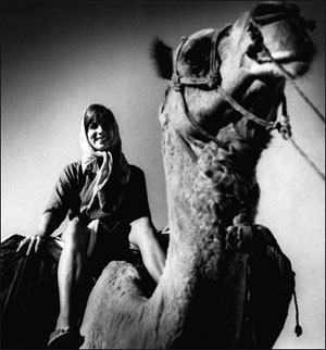 Photo of Demi on a camel in Saurasthra India