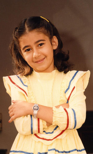 Photo of Sara Azizi as a child