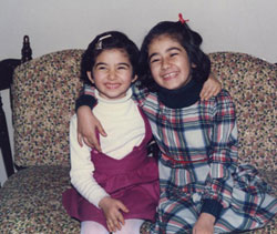 Photo of Sara Azizi with her sister